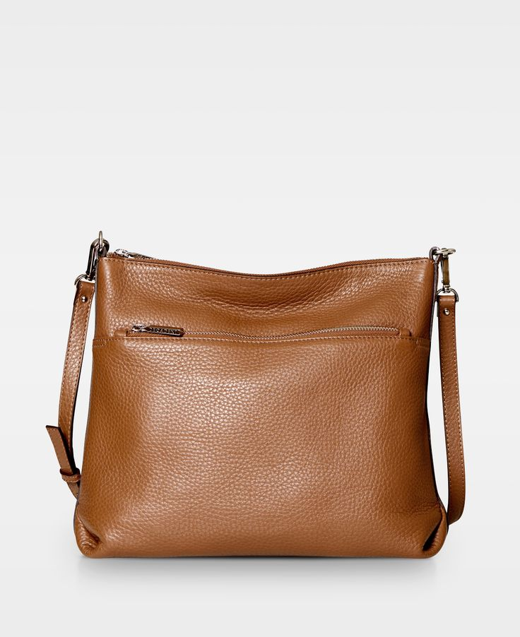 DECADENT Cross Over Hold All with Zipper  Cognac