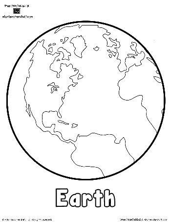 Free Earth Printable Outlines and Shape Book Writing Pages  http://atoztea.ch/IJnBgc