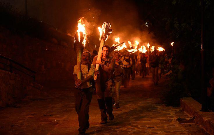 Baixada de falles de Taüll. Festes de foc dels Pirineus. #UNESCO #heritage