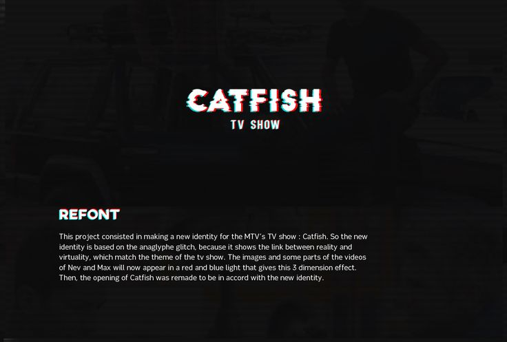 """Check out this @Behance project: """"Catfish TV Show"""" https://www.behance.net/gallery/50139889/Catfish-TV-Show"""