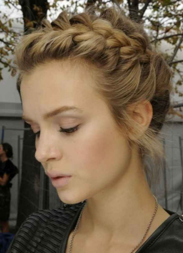 Astounding Updo Cute Updo And Braid Crown On Pinterest Short Hairstyles Gunalazisus