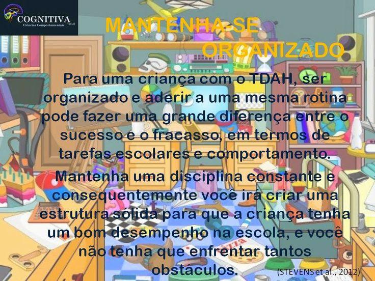 COGNITIVA TDAH: MANTENHA-SE ORGANIZADO
