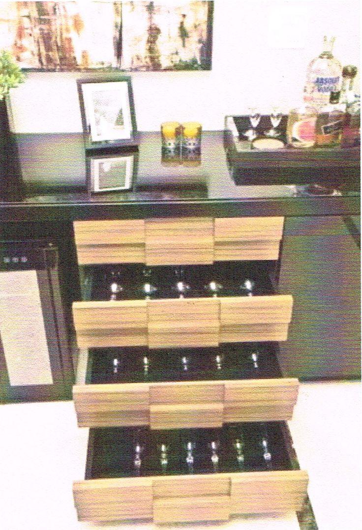 bancada bar gaveta adega climatizada vinho