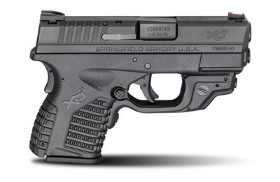 "Springfield Armory XDS 3.3"" 9mm Black Pistol with Crimson Trace Laser"