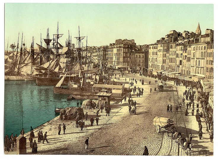 Old Harbor (Vieux-Port), Marseille, France between ca. 1890 and ca. 1900