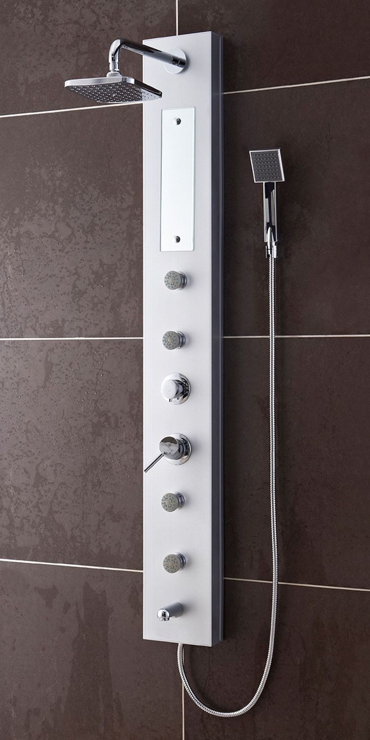 A Shower Panel Can Really Take Your Morning Cleaning Routine To The Next  Level. Instead Of Just A Basic Shower Head You Get 4 Different Water  Outputs: A ...
