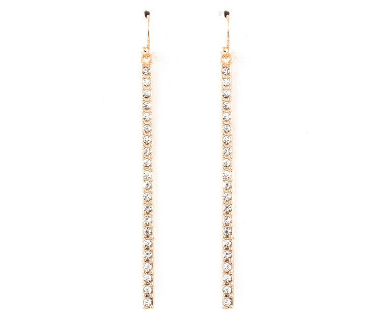 || Crystal Stria Earrings in Gold ||