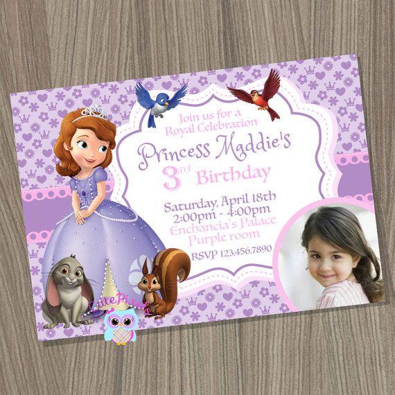 Sofia the first invitation Princess Sofia Invitation by CutePixels