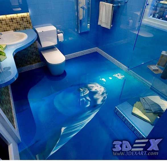 3d Dolphin Flooring Photo Printing For Bathroom 3d Epoxy Floor Art 3d Dolphin Flooring And Photo Printing On Floors The Epoxy Floor 3d Flooring Epoxy Floor