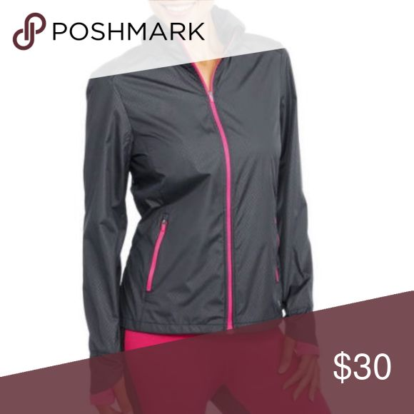 Danskin Now Women's Active Wind Jacket Whether on the run or literally -running - DANSKIN Hooded Wind jacket, with stow away hood option, has you fully covered and capable for braving the elements. With all the trending touches, embossed pattern and knit base cuff and thumbhole, it's an element of fashion itself to be worn for running your day-to-day! Jackets & Coats Utility Jackets