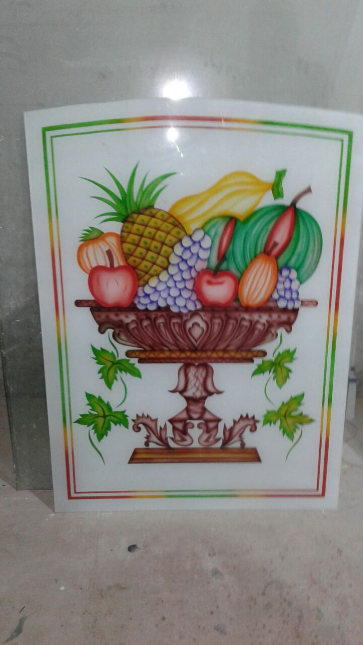 Fruits Pot Design On Lacquered Glass Window Glass Design Door Glass Design Glass Art