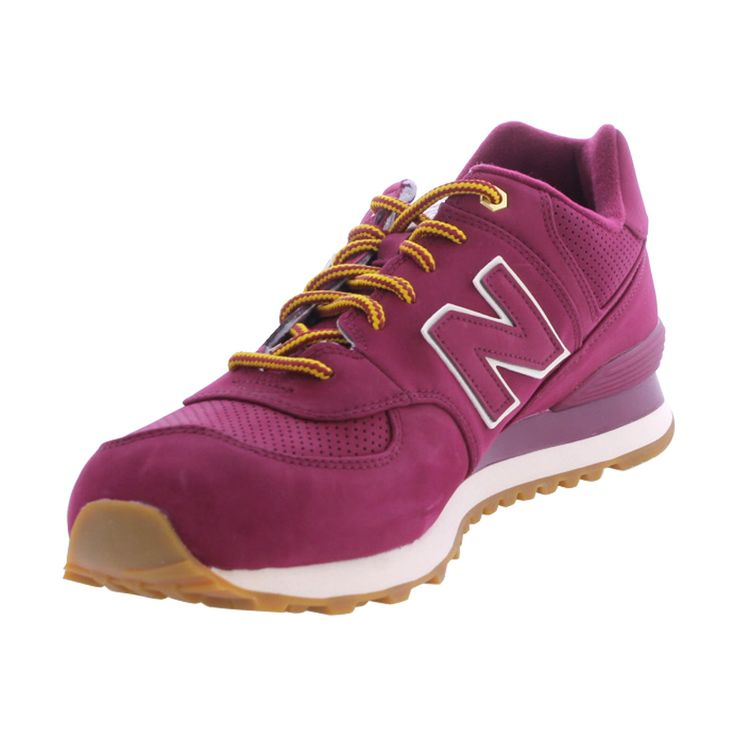 New balance - Men's Outdoor 574 Nubuck Sneakers - Burgundy