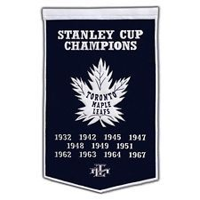 Toronto Maple Leafs NHL Stanley Cup Winners Dynasty 3ft Banner