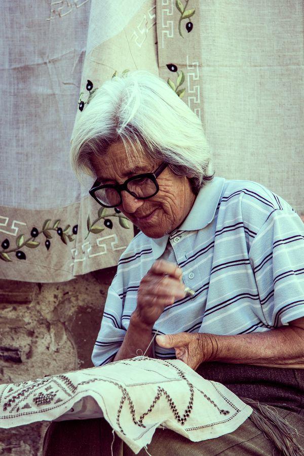 Lace Artist in Lefkara - Cyprus