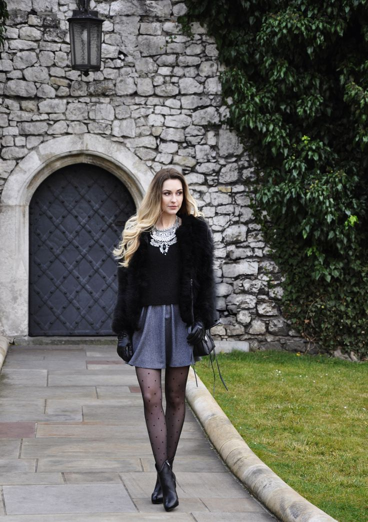 JACKET – STYLE BUTLER SKIRT – SELECTED FEMME JUMPER – ZARA BAG – REBECCA MINKOFF SHOES – ASH TIGHTS – CALZEDONIA NECKLACE – SHLIMP AND ULRICH GLOVES – WITTCHEN