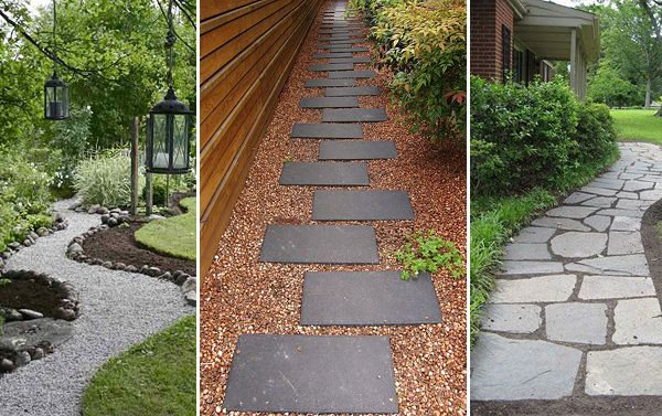 7 Classic DIY Garden Walkway Projects | The Garden Glove ~ Classic DIY garden walkway projects can be done in a weekend, and can seriously up the anty on any garden design. Even adding a simple pathway from the street to the front door adds value. Direct the garden wanderings, keep visitors out of special areas, and lead to the important focal points and recreation areas of your yard with a walkway.
