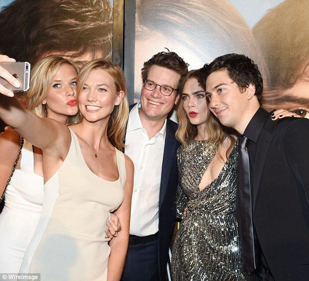 Selfie time! Kristine, Karlie, John, Cara and Nat all posed for a snap together