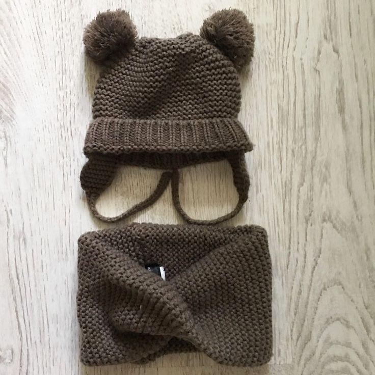Комплект шапка и снуд Zara для малыша до года, отличное состояние, 450 ₽✨