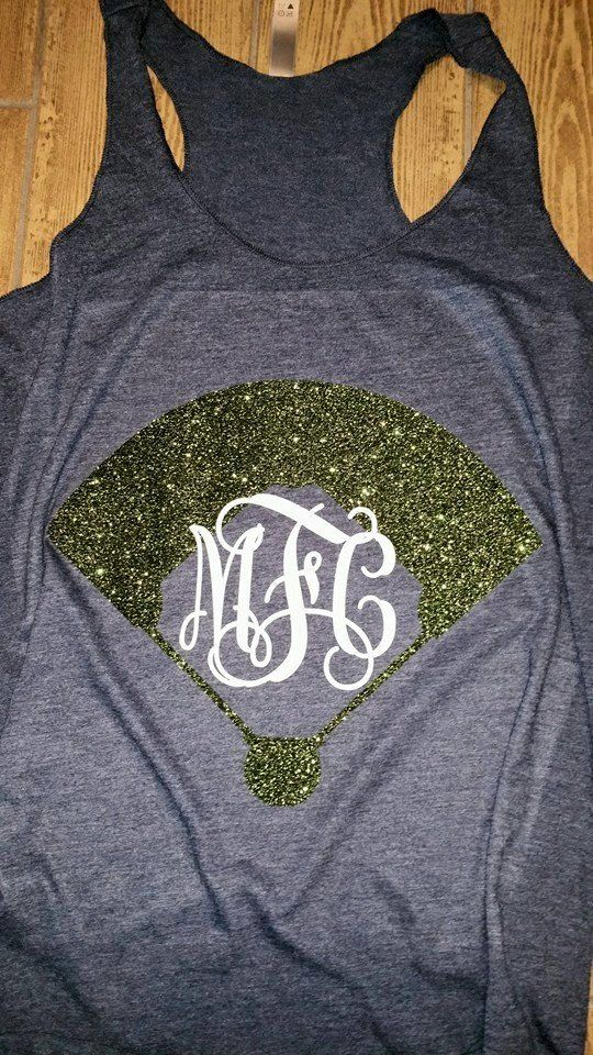 Monogrammed Baseball Tank with Field Monogram by KreweofDomesticus