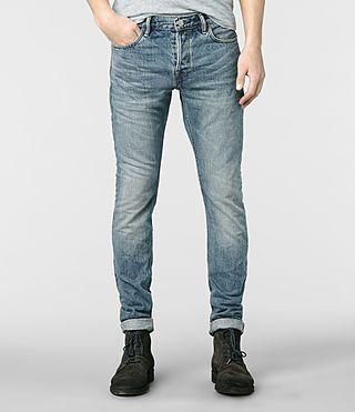 Mens Yukai Cigarette Jeans (Light Indigo) | ALLSAINTS.com