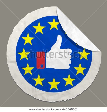 Brexit British referendum concepts symbol on a paper label