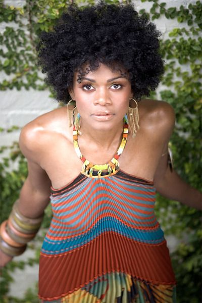 Kimberly Elise - her hair is so beautiful...but im pinning her in fashion because I adore this dress.
