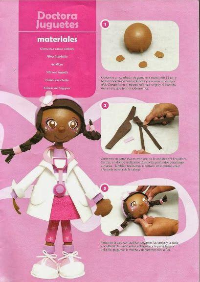 Revistas de manualidades Gratis: Doctora juguetes en foamy 3D ...