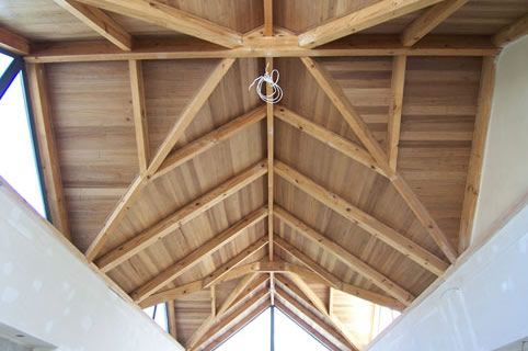 We make trusses for unusual roof designs