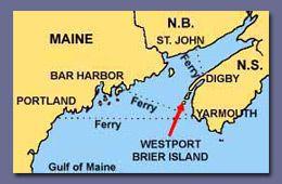 map of bay of fundy, Brier Island, Westport, Digby Neck, Nova Scotia, Canada