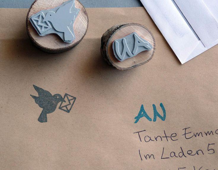 Stempelsets - 2 Stempel Post ist da! Stempelset - ein Designerstück von DasRotkehlchen bei DaWanda