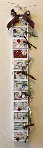 DIY Matchbox 12 days of christmas