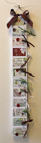 DIY Matchbox 12 days of christmas