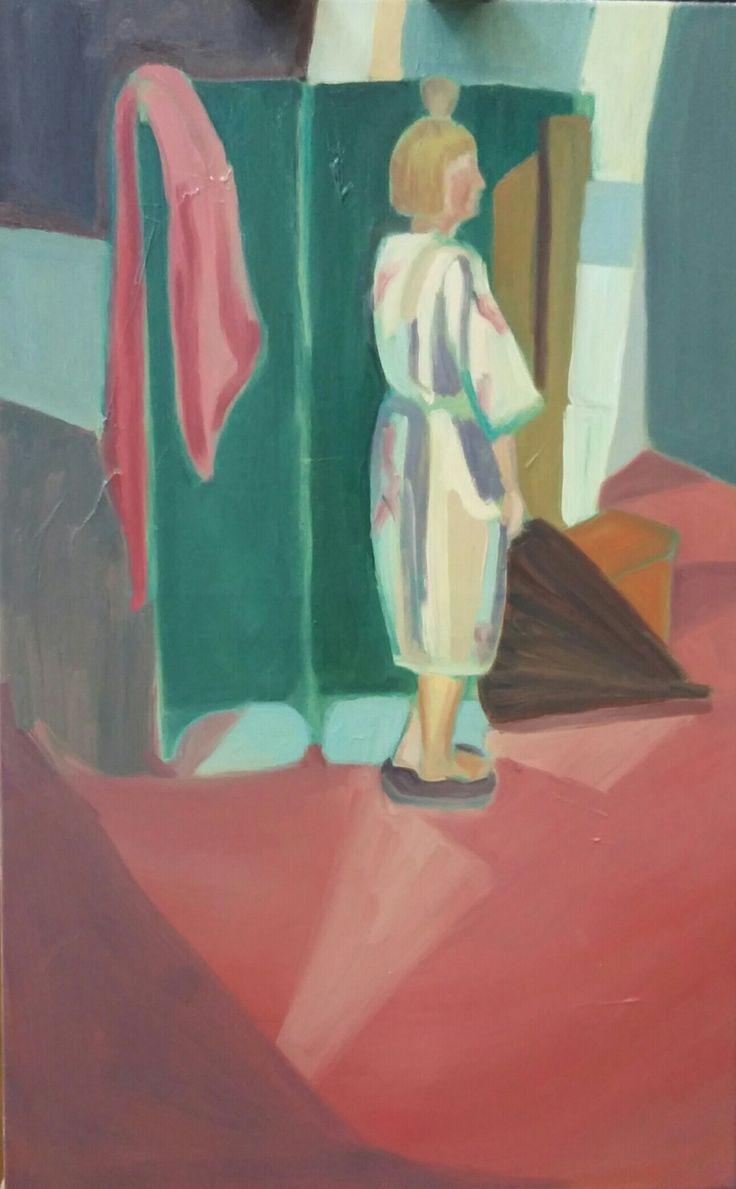 Aleksandra Badurska, 2016, oil on canvas.