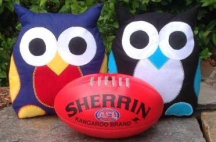 Sports Owls made to order in your favourite team colours from Purple Patch Art and Crafts