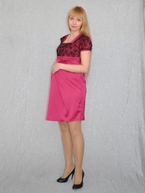 Атласное платье для беременной фото