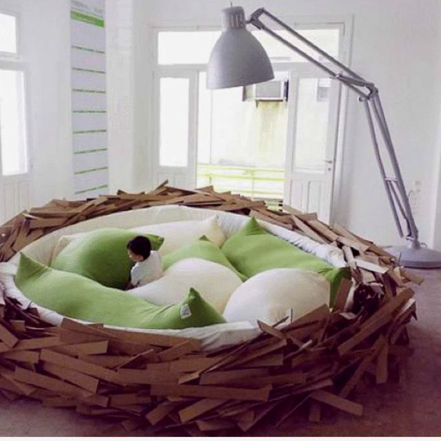 Bird's Nest bed. Perfect for a sleepover.