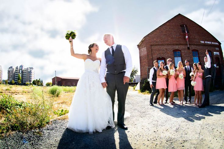bridal wedding party at the train tracks (Kristen Borelli Photography, Victoria Wedding Photographer, Pine Lodge Farms Wedding Photographer, Vancouver Island Wedding Photographer, Nanaimo Wedding Photographer, Destination Wedding Photographer, BC Wedding Photography)