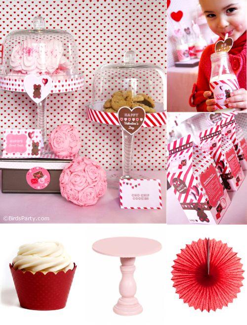 DIY Valentine's Day Party Ideas by Bird's Party #valentine #crafts #partyideas #redpink #partyprintables #partysupplies