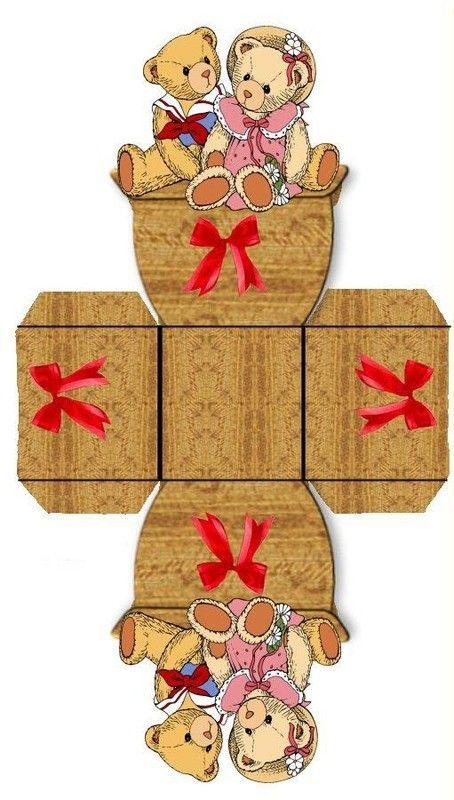 UNE PETITE BOITE - Teddy Bears Small Paper Box