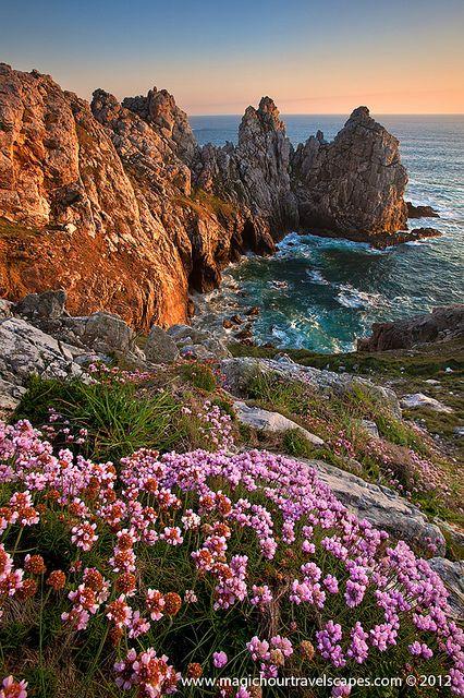 Spring of Breton coast, France
