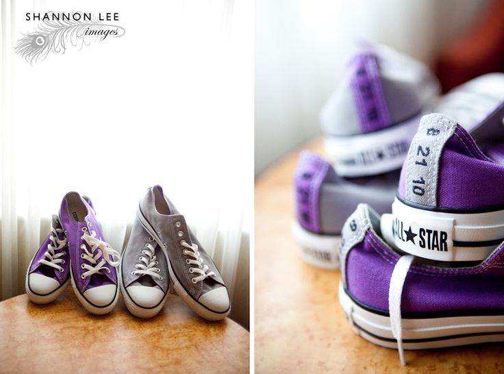 Wedding Converse: Purple and Grey!!! @Stephanie McCarville this is actually for you!!