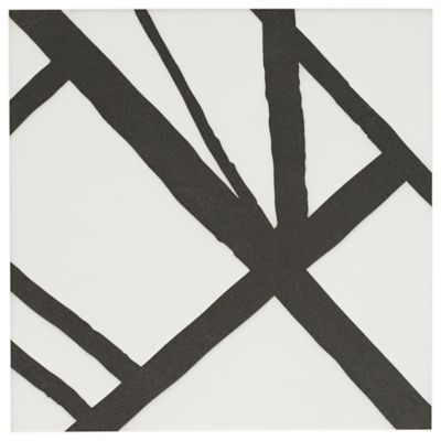 """Maven Solstice I 8"""" x 8"""" field tile in Matte White with black dry line"""