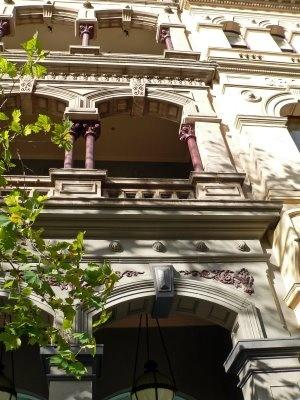 Detail facade, 'Paris end' of Collins Street, Melbourne Australia