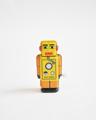 Vintage Robotje Geel
