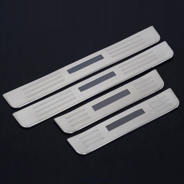 High Quality 4pcs Stainless steel Blue LED Door Sill Scuff Plate Thresholds Pad Pedal Fit For Hyundai Santa Fe 2010 2011 2012 #Affiliate