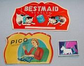 Vintage 3 Needle Books Scottie Dog, Pico, Bestmaid