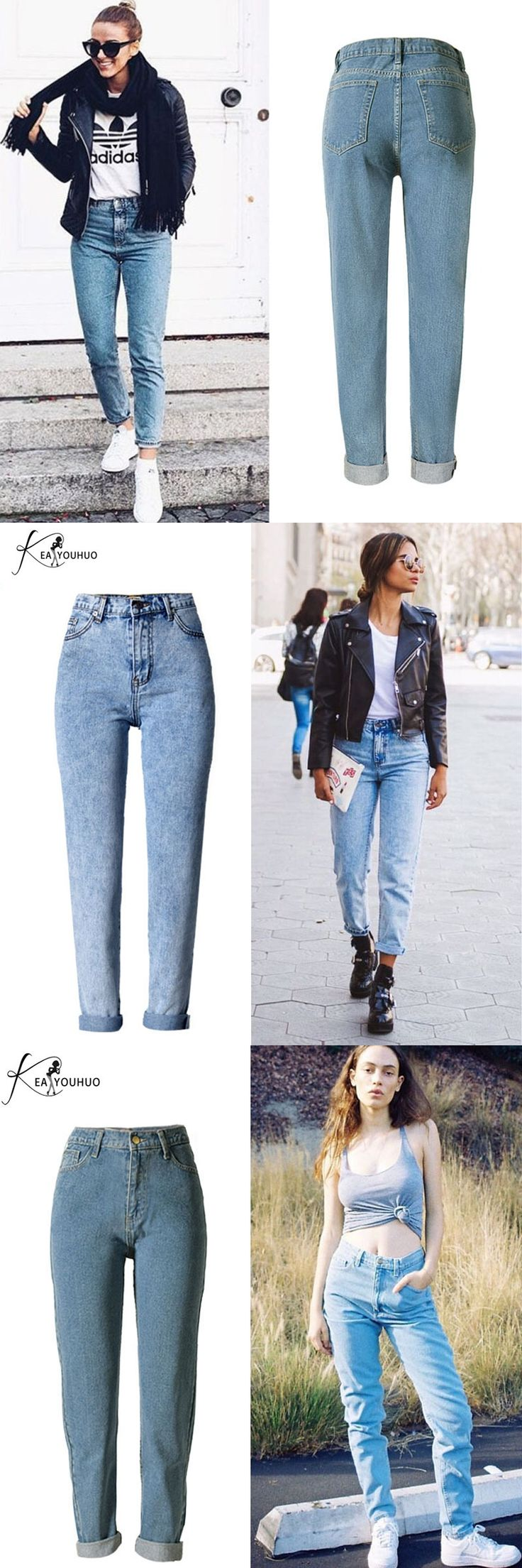 New 2017 Women's Jeans Woman Fashion Ladies Trousers Denim Mom Pants Female With High Waist Ripped Jeans For Women overalls jean