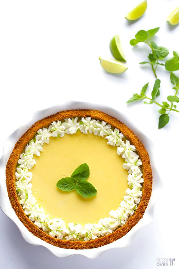 Mojito Pie -- a delicious twist on key lime pie inspired by a classic mojito drink!