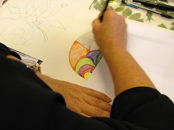Iedere persoon is uniek, dus ook iedere tekening is uniek. Hier een voorbeeld uit Schijndel - Mandala workshop 2013