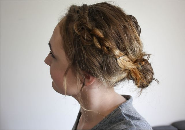 Easy Messy Braid Updo #beauty #beautyblogger #beautyblog #bblogger #bblog #hair #bob #shorthair #hairstyle